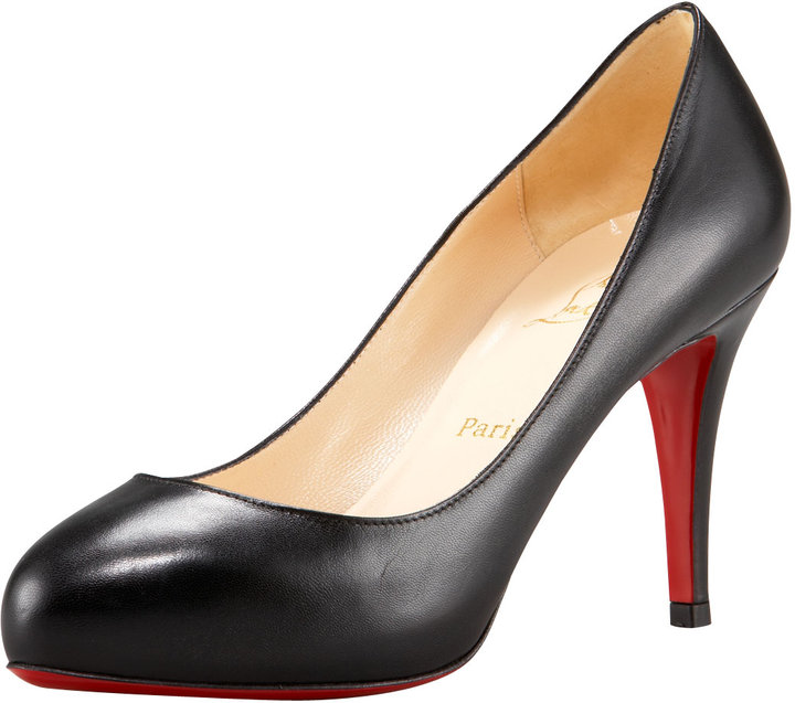 Christian Louboutin Delic 90 Crescent-Toe Pump