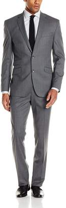 Kenneth Cole New York Men's Solid Slim Fit 2 Button Side Vent Suit
