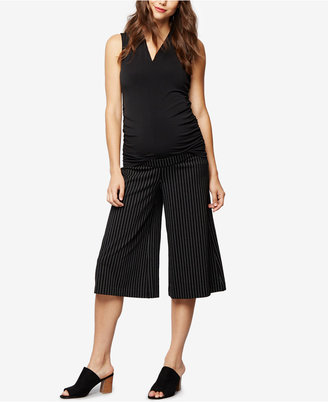 A Pea In The Pod Maternity Wide-Leg Cropped Pants $88 thestylecure.com