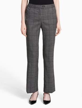 Calvin Klein modern glen plaid pants