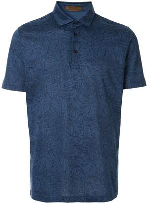 Corneliani floral print polo shirt