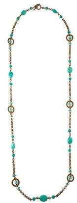 Stephen Dweck Carved Turquoise Station Necklace