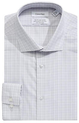 Calvin Klein Slim Cotton Broadcloth Dress Shirt