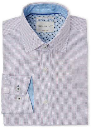 Con.Struct Pink Dot Stretch Slim Fit Dress Shirt