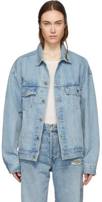 Levi's Levis Blue Denim Baggy Trucker Jacket