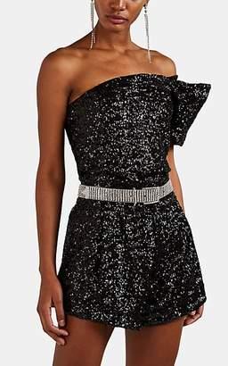 d7acbd6d0756d Isabel Marant Women s Ocha Sequined One-Shoulder Top - Black
