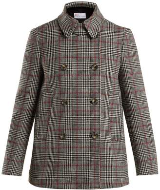 RED Valentino Prince of Wales-checked wool-blend jacket
