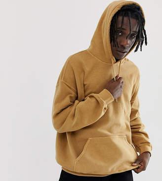Reclaimed Vintage inspired oversized hoodie in orange spice overdye