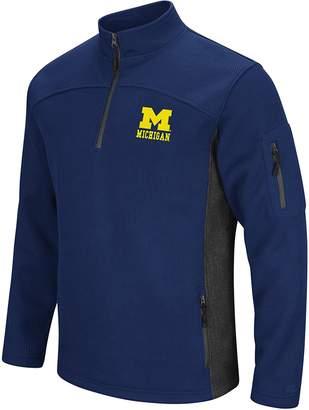 Colosseum Michigan Wolverines Mens Advantage Quarter Zip Pullover
