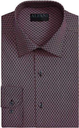 Alfani Men's AlfaTech Slim-Fit Performance Stretch Honeycomb Dress Shirt, Created for Macy's