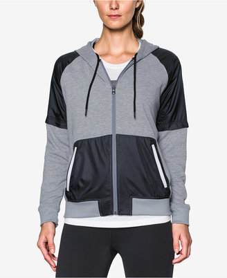 Under Armour French Terry Colorblocked Fleece Zip Hoodie $74.99 thestylecure.com