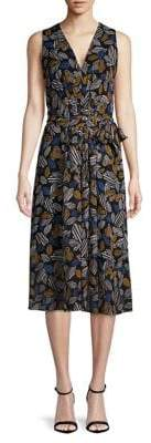 Anne Klein Printed Midi A-Line Dress