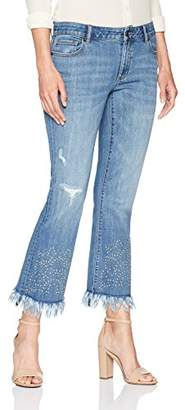 Denim Crush Women's Studded Fray Hem Bootcut Jean 2