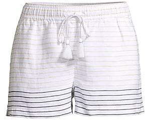 Vineyard Vines Women's Lurex-Stripe Linen Shorts