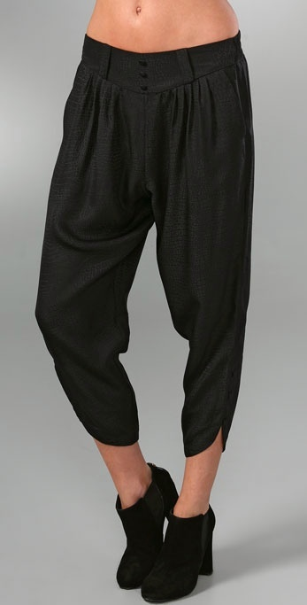 American Retro Buttoned Harem Pants
