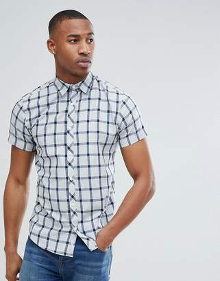 Jack and Jones Core Short Sleeve Shirt With Grid Check