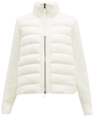 Moncler Knit Sleeve Down Filled Gilet - Womens - White