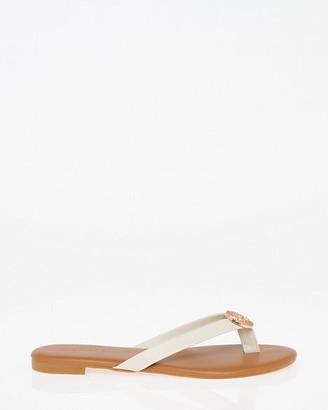 6b652eec8 Cream Flip Flops - ShopStyle Canada