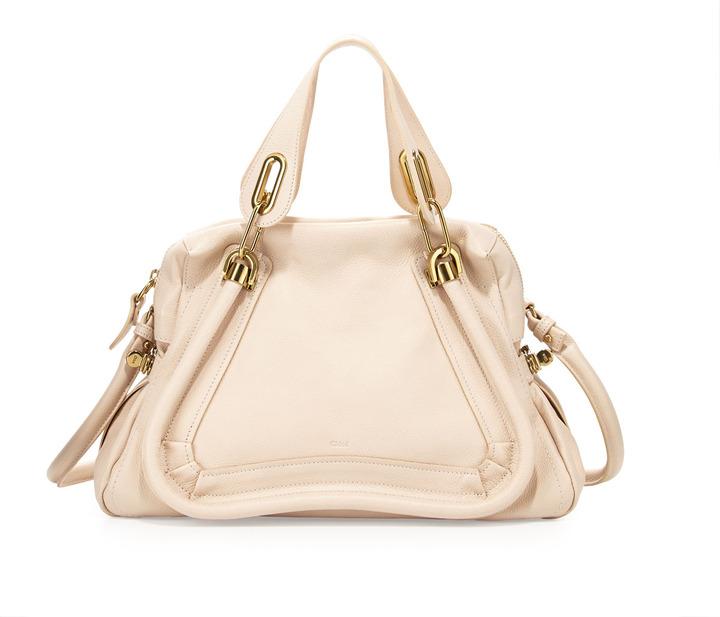 Chloé Paraty Shopper Bag, Husky White