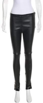 Balenciaga Mid-Rise Leather Pants