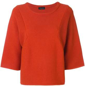 Roberto Collina three quarter knitted top