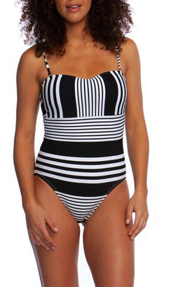 La Blanca Fine Line Bandeau One-Piece Swimsuit