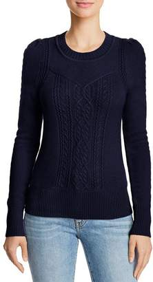 Aqua Mixed Knit Cashmere Sweater - 100% Exclusive