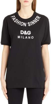 Dolce & Gabbana Fashion Sinner Graphic Tee