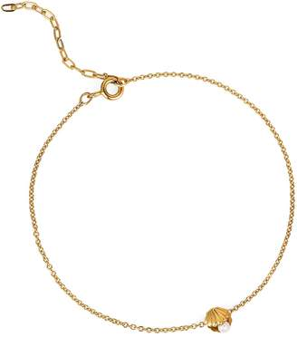 Lee Renee Mini Shell & Pearl Bracelet Gold Vermeil