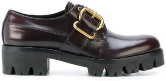 Prada buckle detail lace up shoes