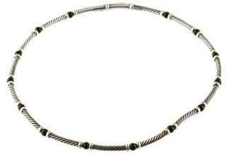 David Yurman Onyx Station Cable Necklace
