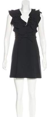 Valentino Ruffle-Trimmed Mini Dress