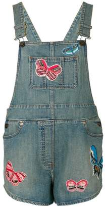 Valentino punk insect appliqué dungarees