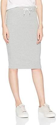 Only Women's Onlpernille SWT Skirt, Grey (Light Grey Melange Light Grey Melange), (Manufacturer Size: Small)