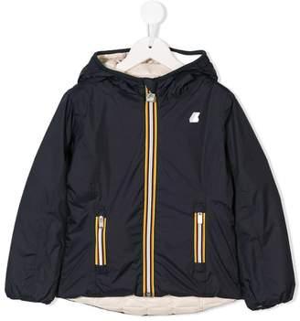K Way Kids reversible hooded padded jacket