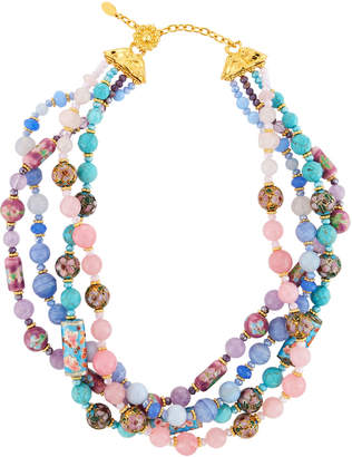 Jose & Maria Barrera Mixed Pastel Twist Necklace