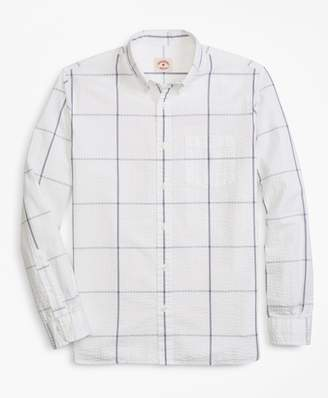 Brooks Brothers Windowpane Seersucker Sport Shirt