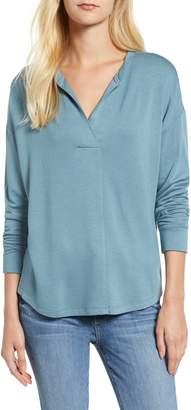 Lou & Grey Signaturesoft Split Neck Top