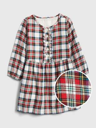 Gap Plaid Ruffle Dress