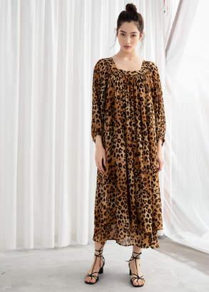 553f021d4b9 And other stories Leopard Kaftan Maxi Dress