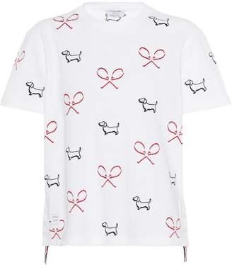 Thom Browne Printed cotton T-shirt