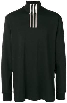 Y-3 stripe-detail turtleneck sweater