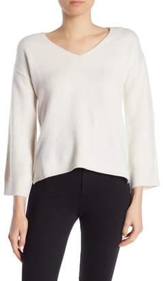 Minnie Rose Deep V-Neck Cashmere Sweater