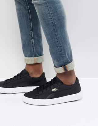 Puma Breaker Suede Sneakers In Black 36607701