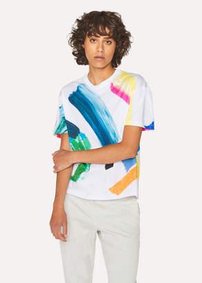 Paul Smith Women's Multi-Colour 'Paint Strokes' Print T-Shirt