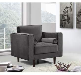 Everly Quinn Pamula Velvet Armchair