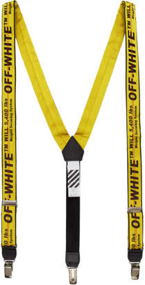 Off-White Off White Black and Yellow Logo Industrial Suspenders