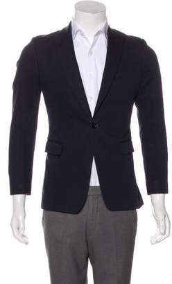 Dries Van Noten One-Button Peak-Lapel Blazer