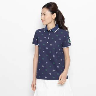 adabat (アダバット) - アダバット adabat モノグラムロゴ半袖ポロシャツ (ブルー系)