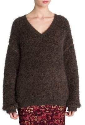 Miu Miu Pulled Mohair V-Neck Sweater